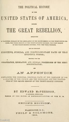 Download The political history of the United States of America, during the great rebellion