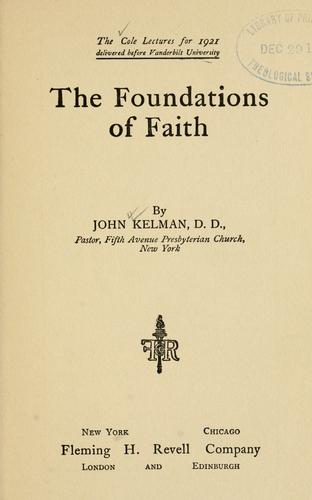 Download The foundations of faith