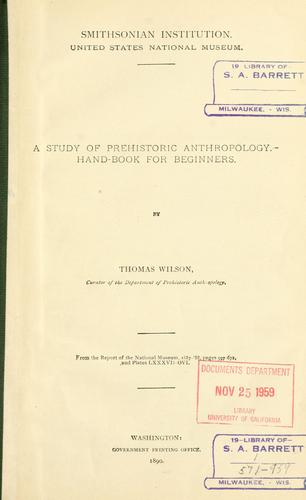 Download A study of prehistoric anthropology