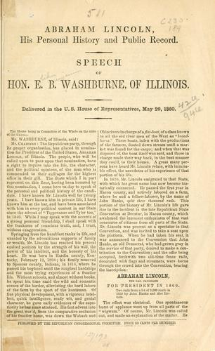Download Abraham Lincoln, his personal history and public record.