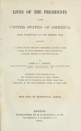 Download Lives of the Presidents of the United States of America from Washington to the present time …