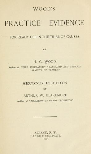 Download Wood's practice evidence