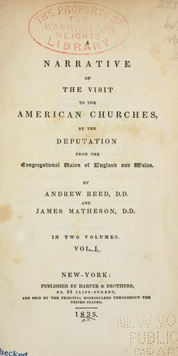 Download A narrative of the visit to the American churches
