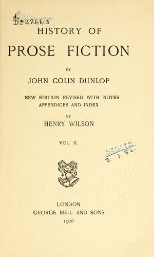 History of prose fiction.
