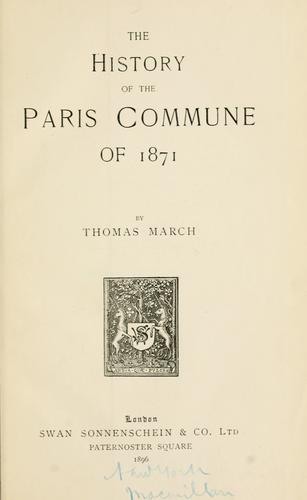The history of the Paris Commune of 1871 …
