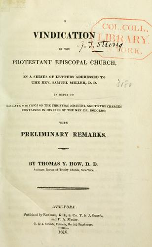 A vindication of the Protestant Episcopal church