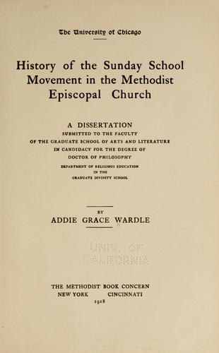 Download History of the Sunday school movement in the Methodist Episcopal church