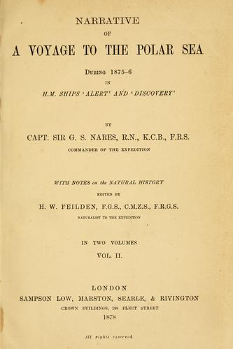 Download Narrative of a voyage to the Polar Sea during 1875-6 in H.M. ships 'Alert' and 'Discovery'