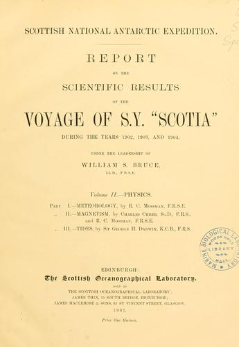 "Download Report on the scientific results of the voyage of S.Y. ""Scotia"" during the years 1902, 1903 and 1904"