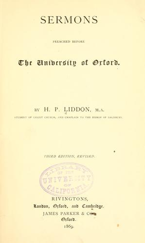Download Sermons preached before the University of Oxford