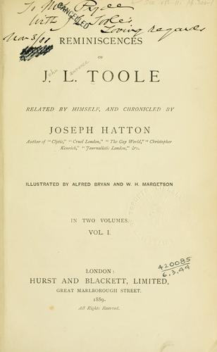 Download Reminiscences of J.L. Toole