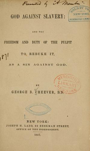 Download God against slavery