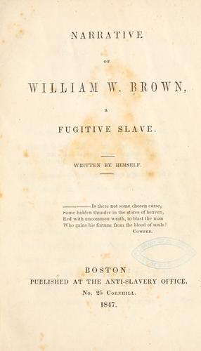 Download Narrative of William W. Brown, a fugitive slave.