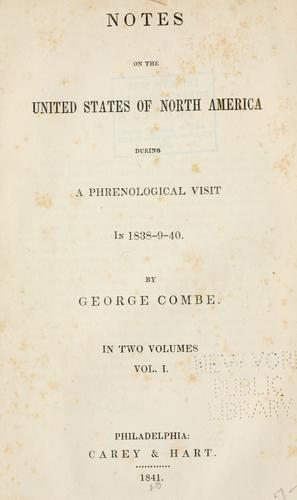 Download Notes on the United States of North America