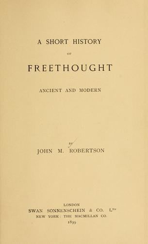 Download A short history of freethought