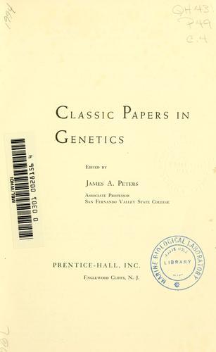 Download Classic papers in genetics.