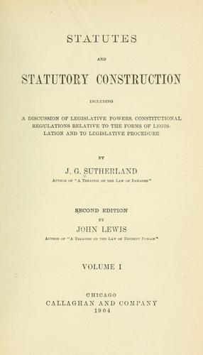Download Statutes and statutory construction