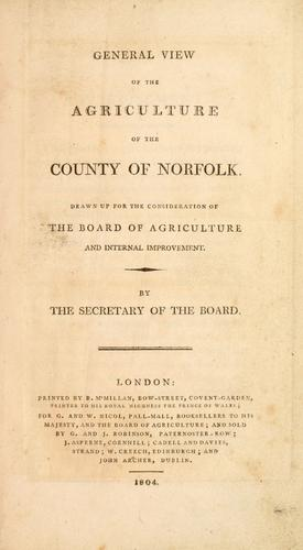 Download General view of the agriculture of the county of Norfolk