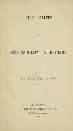Download The limits of responsibility in reforms