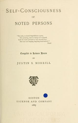 Self-consciousness of noted persons.