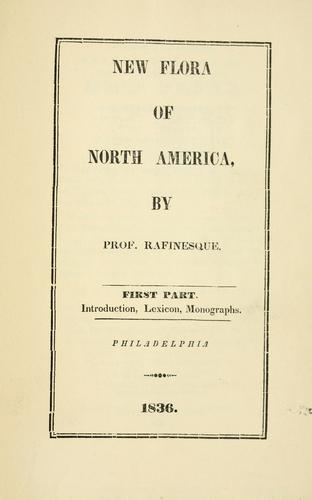 Download New flora and botany of North America