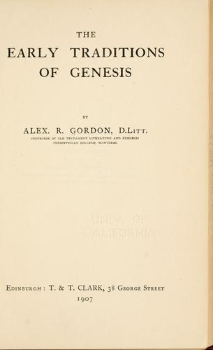 Download The early traditions of Genesis