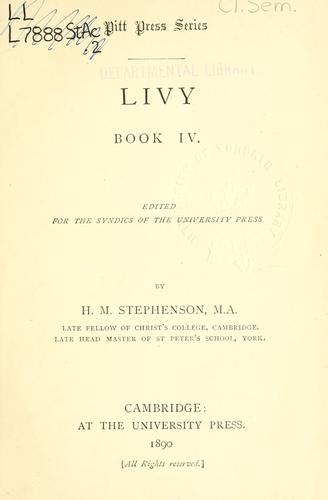 Book 4 by Titus Livius