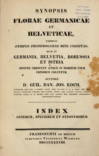 Synopsis florae Germanicae et Helveticae