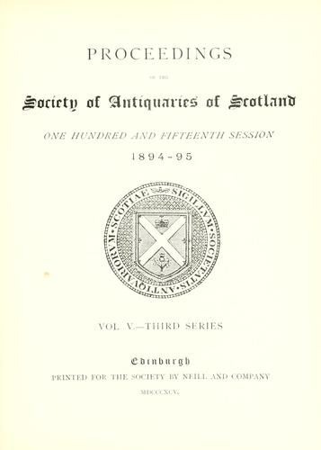 Download Proceedings of the Society of Antiquaries of Scotland.