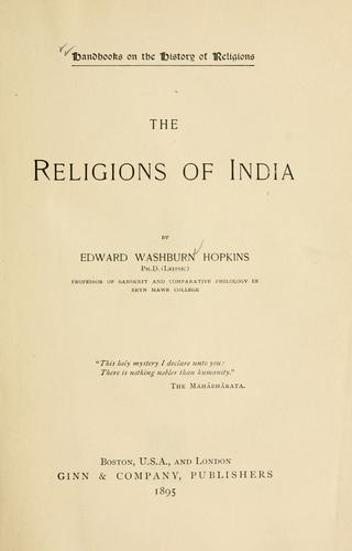 Download The religions of India