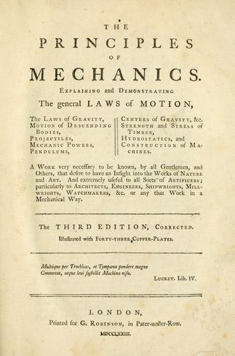 Download The principles of mechanics