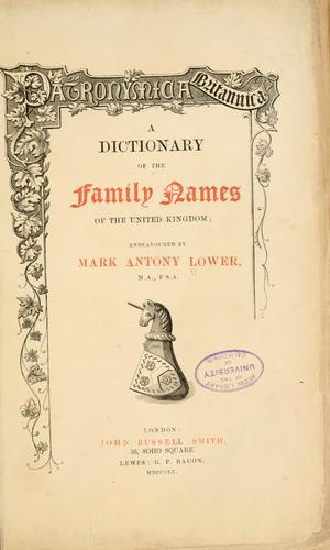 Download Patronymica Britannica.
