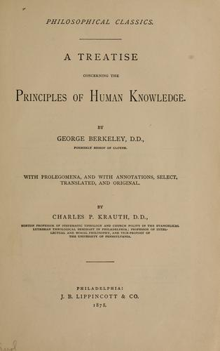 Download A treatise concerning the principles of human knowledge.