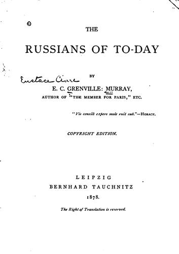 Download Russians of to-day.