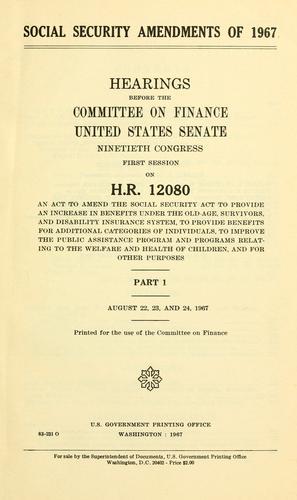 Social security amendments of 1967.
