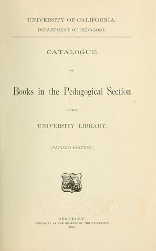 Download Catalogue of books in the pedagogical section of the University Library.