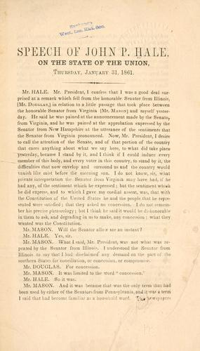 Speech of John P. Hale