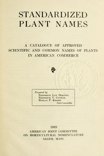 Download Standardized plant names