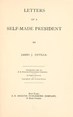 Letters of a self-made president