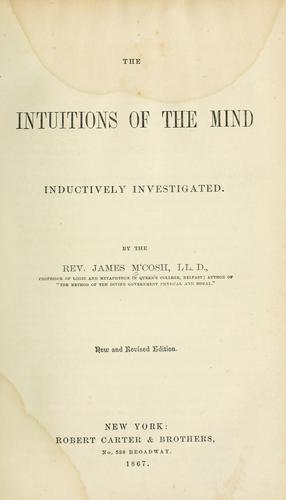 Download The intuitions of the mind inductively investigated