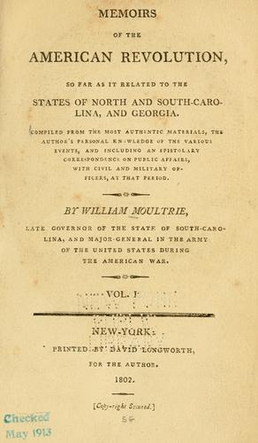 Download Memoirs of the American Revolution