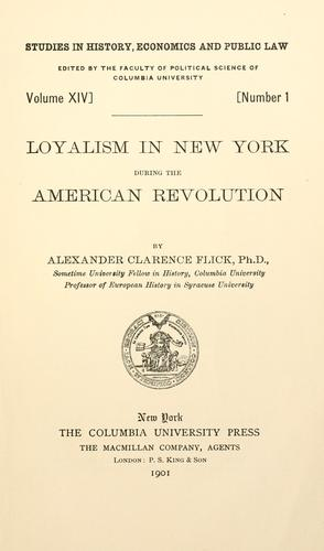 Download Loyalism in New York during the American revolution