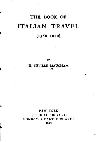 The book of Italian travel (1580-1900)