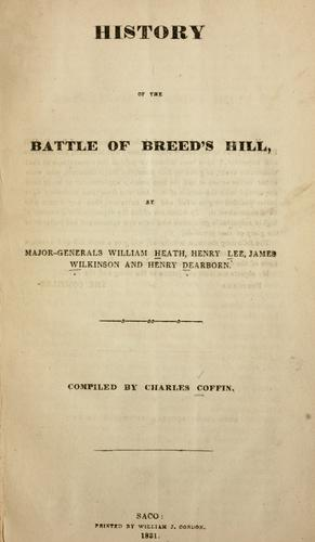 Download History of the battle of Breed's Hill