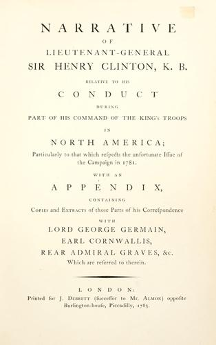 Download Narrative of the campaign in 1781 in North America