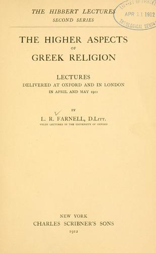 The higher aspects of Greek religion.