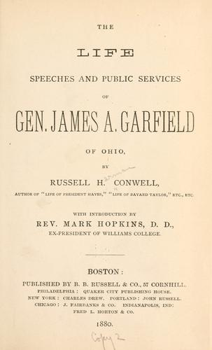 Download The life, speeches and public services of Gen. James A. Garfield of Ohio