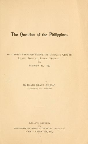 The question of the Philippines