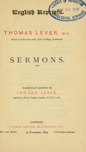 Sermons, 1550