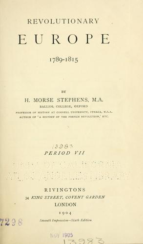 Download Revolutionary Europe, 1789-1815